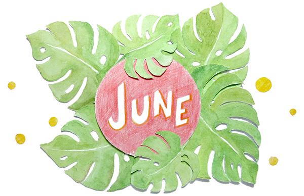 June calendar heading clipart jpg transparent stock June 2016 free printable calendar planner - Fathima's Studio jpg transparent stock