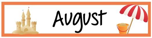 June calendar heading clipart clip art August Calendar Header Printable clip art