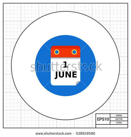 June calendar page clipart vector royalty free First Of June Stock Photos, Royalty-Free Images & Vectors ... vector royalty free
