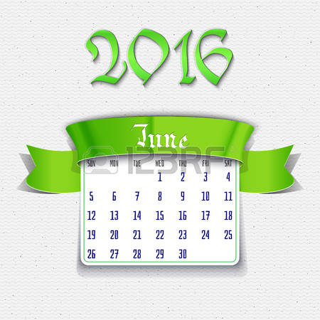 June calendar page clipart jpg library download 0 June 2016 Stock Vector Illustration And Royalty Free June 2016 ... jpg library download