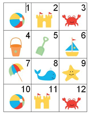 June calendar theme clipart clipart library stock Free Calendar Beach Numbers --- this blog has tons of cute ... clipart library stock