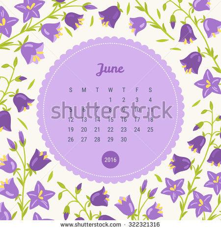 June calendar theme clipart jpg transparent library Calendar 2016 Nature Theme Trees Animals Stock Vector 339426986 ... jpg transparent library