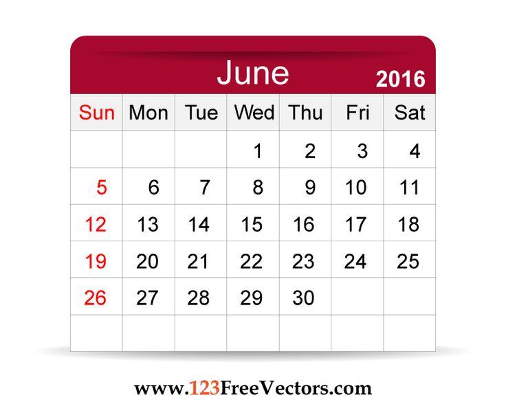 June preschool calendar clipart black and white library 17 Best ideas about Calendar June on Pinterest | August calendar ... black and white library