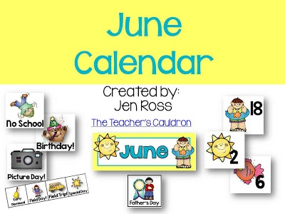 June preschool calendar clipart image free library 1000+ images about Preschool Calendar Printables on Pinterest ... image free library