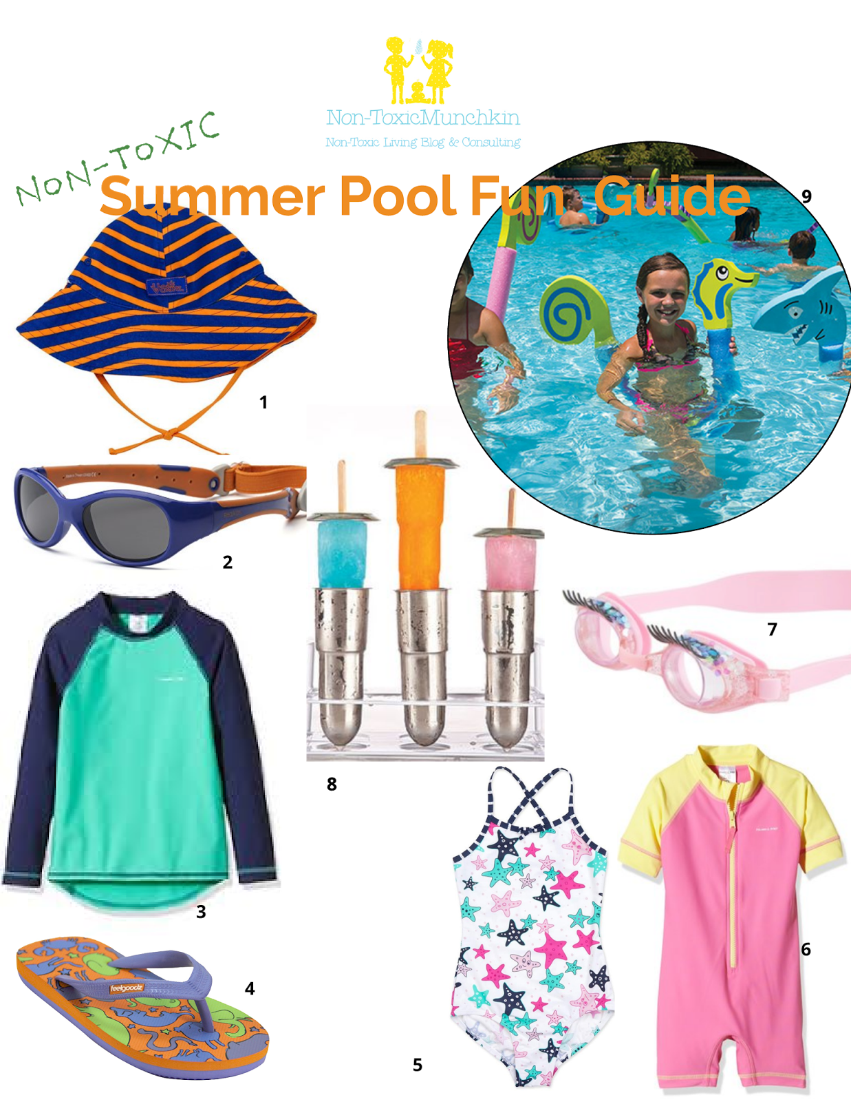 June sun poolside clipart clipart black and white stock Non-Toxic Munchkin: Non-Toxic Munchkin Summer Guide: Pool Party Days clipart black and white stock