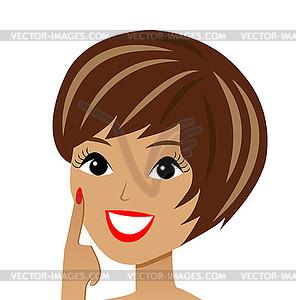 Junge frau clipart clip art transparent schöne junge Frau - Vector-Clipart EPS clip art transparent