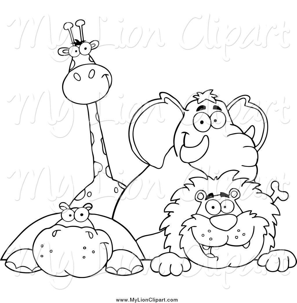 Jungle animals black and white clipart clipart transparent Free Jungle Animals Clipart Black And White, Download Free ... clipart transparent
