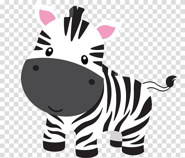 Jungle baby clipart vector transparent library Zebra , Baby Jungle Animals , zoo cartoon transparent ... vector transparent library