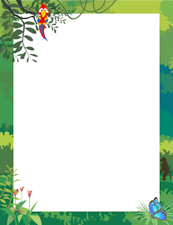 Jungle border clipart clipart freeuse library Jungle Border | Projects to Try | Page borders, Borders for ... clipart freeuse library