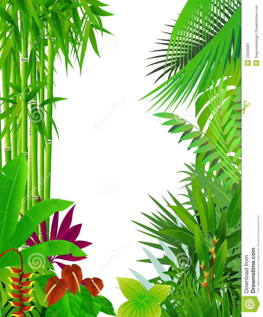 Jungle border clipart graphic royalty free library Jungle Border | Free download best Jungle Border on ... graphic royalty free library