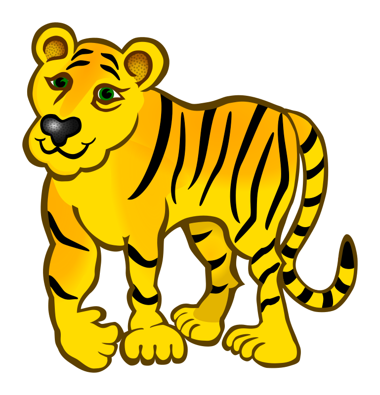 Jungle cat clipart jpg freeuse Clipart - tiger - coloured jpg freeuse
