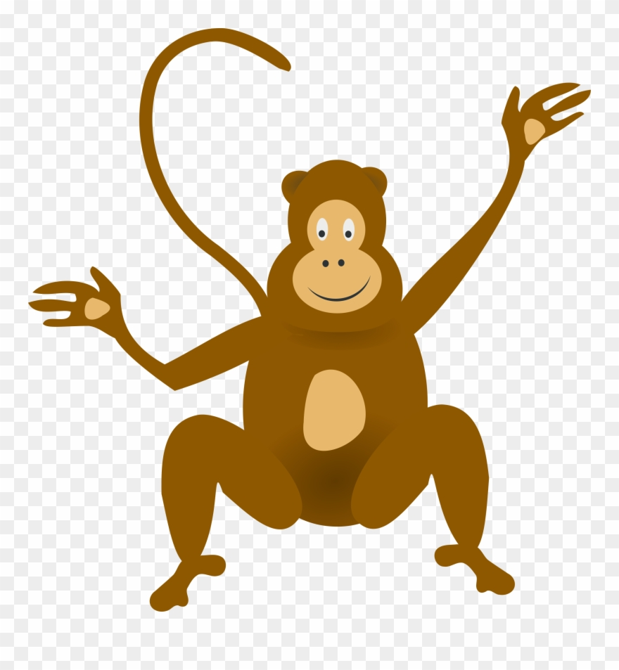Jungle monkey clipart svg library stock Graphic Black And White Download Monkey Jungle Clip - Clip ... svg library stock