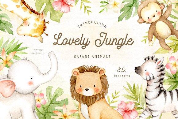 Library of jungle safari animals svg freeuse png files ...