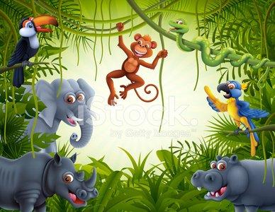 Jungle scene clipart freeuse library Jungle Scene premium clipart - ClipartLogo.com freeuse library