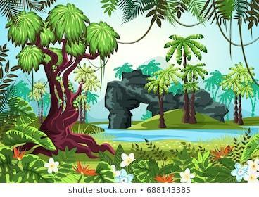 Jungle scene clipart clip transparent Jungle scene clipart » Clipart Portal clip transparent