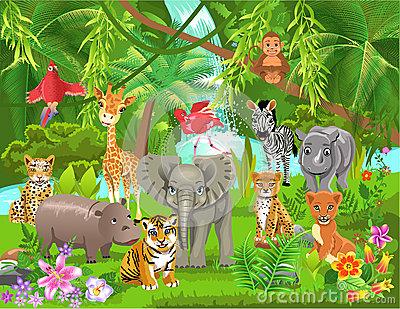 Jungle scene clipart clip art free library Jungle scene clipart 10 » Clipart Station clip art free library