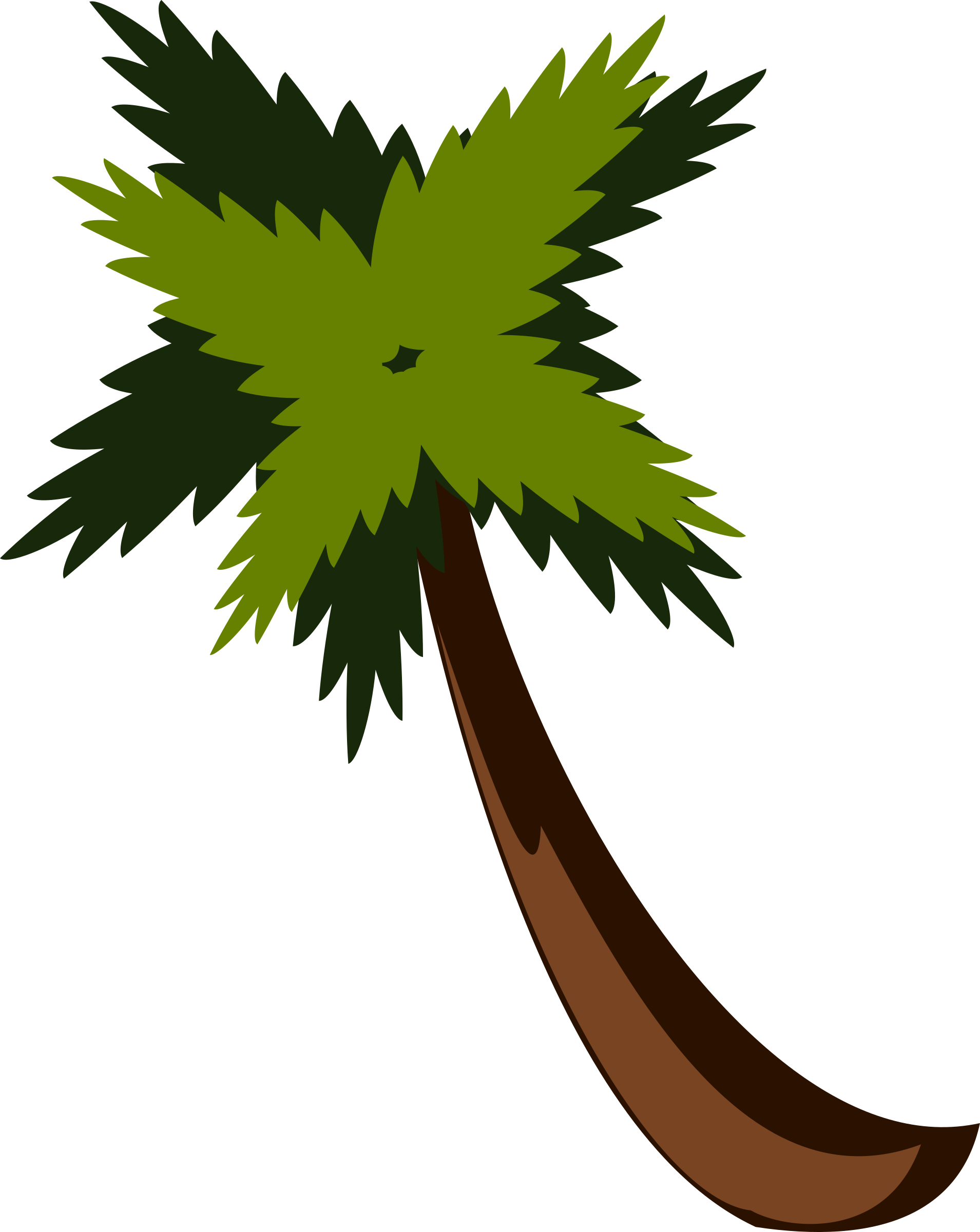 Jungle tree clipart vector black and white Clipart - PalmTreeBySteve vector black and white