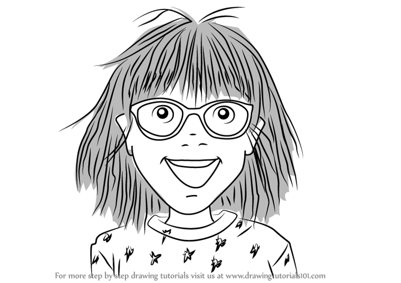 Junie b jones clipart black and white clip art transparent library Learn How to Draw Junie B from Junie B. Jones (Junie B ... clip art transparent library