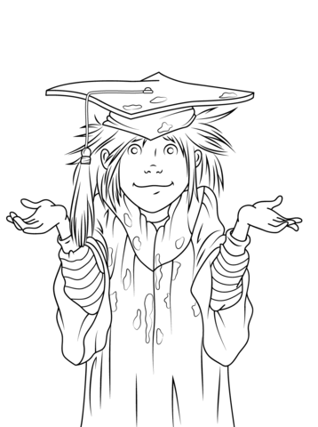 Junie b jones clipart black and white png free stock Junie B. Jones is a Graduation Girl coloring page | Free ... png free stock