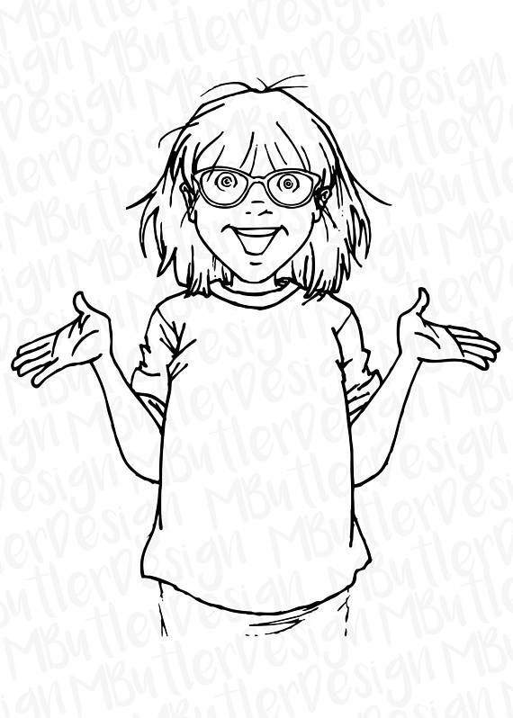 Junie b jones clipart black and white vector freeuse download Pin by Magan Butler on .svg files | Junie b jones, Svg file ... vector freeuse download