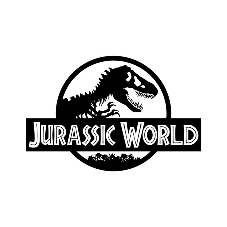 Jurassic park logo clipart image black and white download 17 Best images about Jude's 7th Birthday Bash on Pinterest | Party ... image black and white download