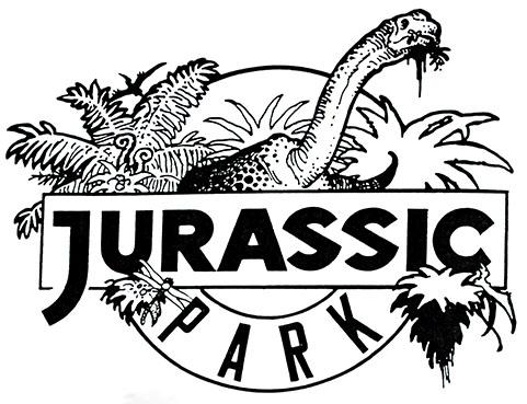 Jurassic park logo clipart clip freeuse download jurassiraptor, Early Jurassic Park logo designs In the original... clip freeuse download