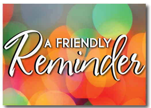 Just a friendly reminder clipart clipart free stock Just A Friendly Reminder If You Planned On Participating In ... clipart free stock