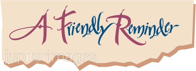 Just a friendly reminder clipart royalty free stock Reminder Clipart - ClipartPost royalty free stock