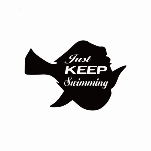 Just keep swimming clipart svg transparent library Just Keep Swimming Vinyl Car Sticker Funny Cartoon Fish Car Decal for Car  Window Body Decoration @ VOVA svg transparent library