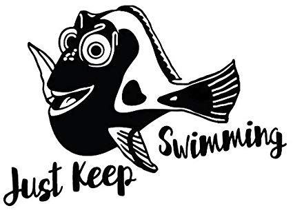 Just keep swimming clipart clip royalty free download Amazon.com: CCI Just Keep Swimming Dory Finding Nemo Funny ... clip royalty free download