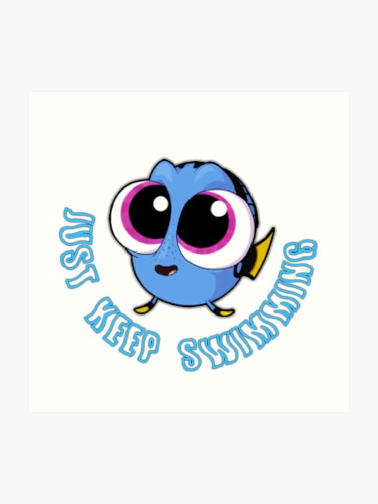 Just keep swimming clipart jpg freeuse library Just Keep Swimming #2 | Art Print jpg freeuse library