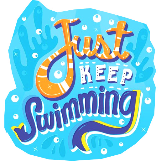 Just keep swimming clipart clip art free Just Keep Swimming - Blue clip art free
