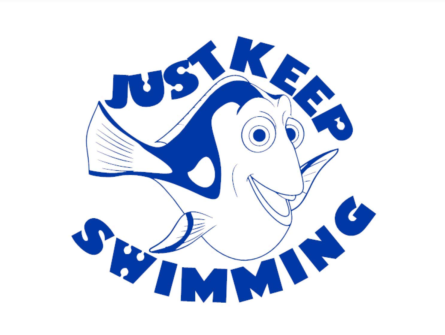 Just keep swimming clipart graphic freeuse stock Amazon.com: Dory - Just Keep Swimming - Nemo - Finding Nemo ... graphic freeuse stock