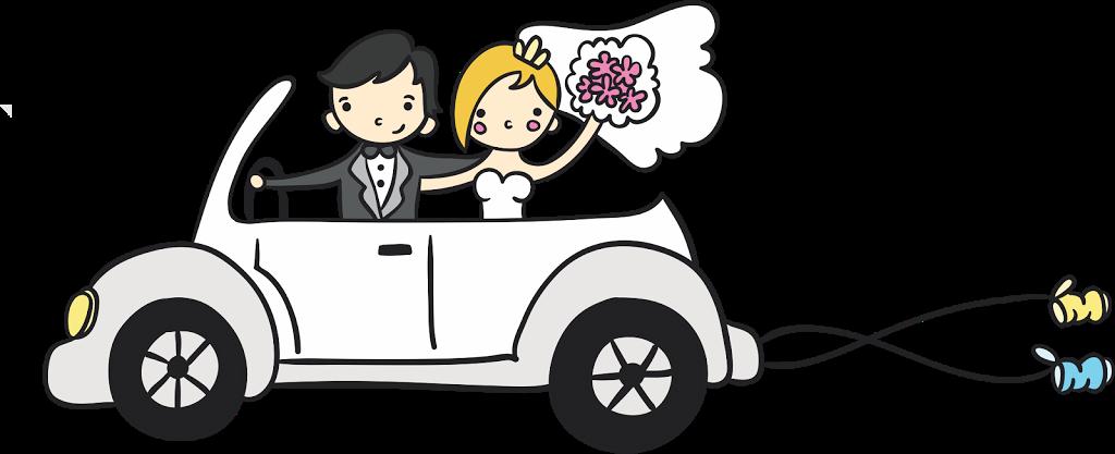 Just married car clipart vector stock Desenho de noivinhos para convite | Bendito Papel | weddings ... vector stock