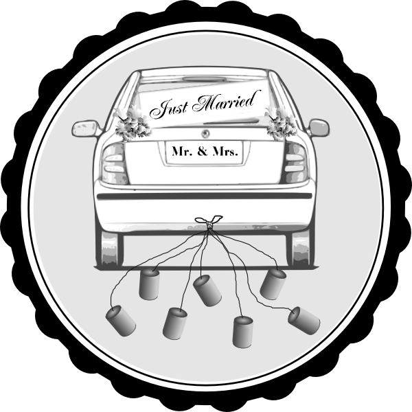 Just married car clipart vector royalty free Timeline Templates | Hayley's Wedding Tips 101 vector royalty free