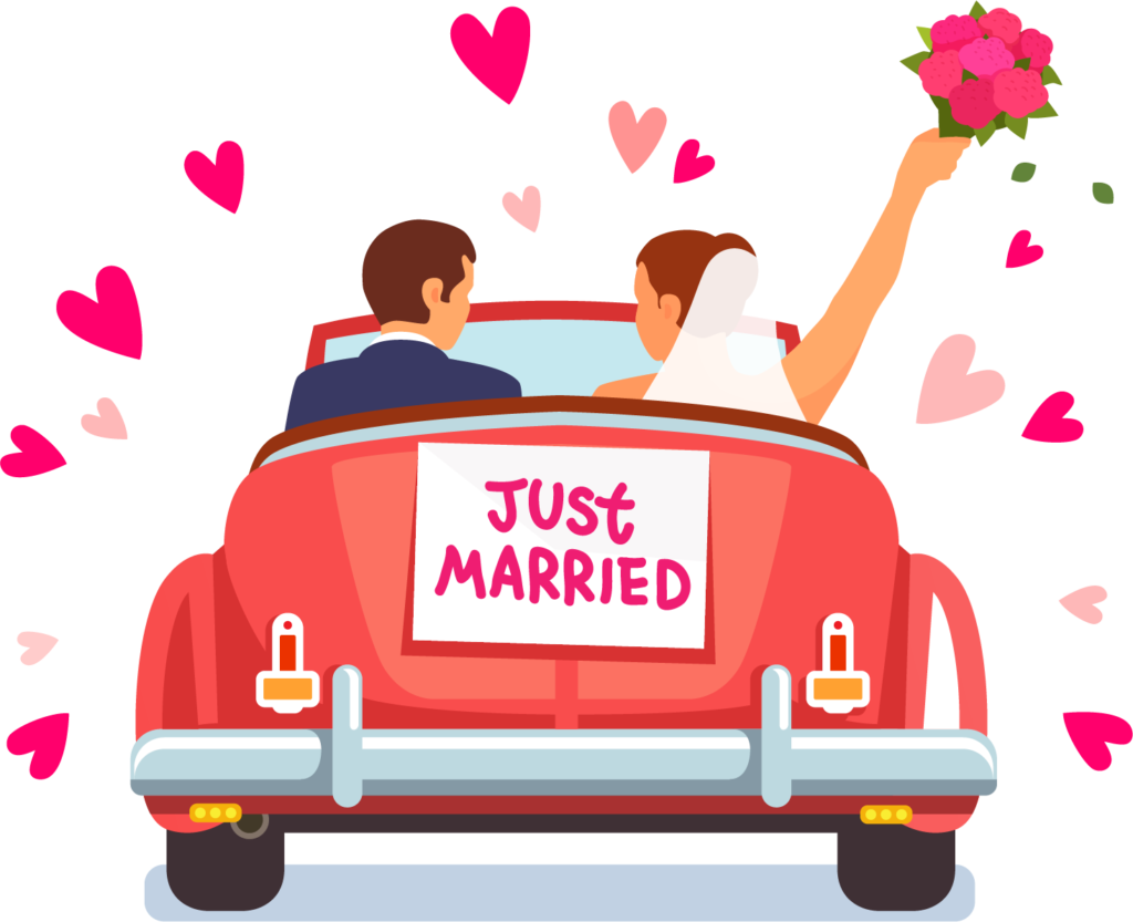 Just married car clipart picture royalty free download Royalty-free Art Marriage - Just Married 1024*833 transprent Png ... picture royalty free download