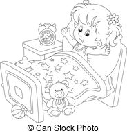 Just woke up clipart black and white image black and white stock Bear waking up from hibernation yawning and stretching. image black and white stock