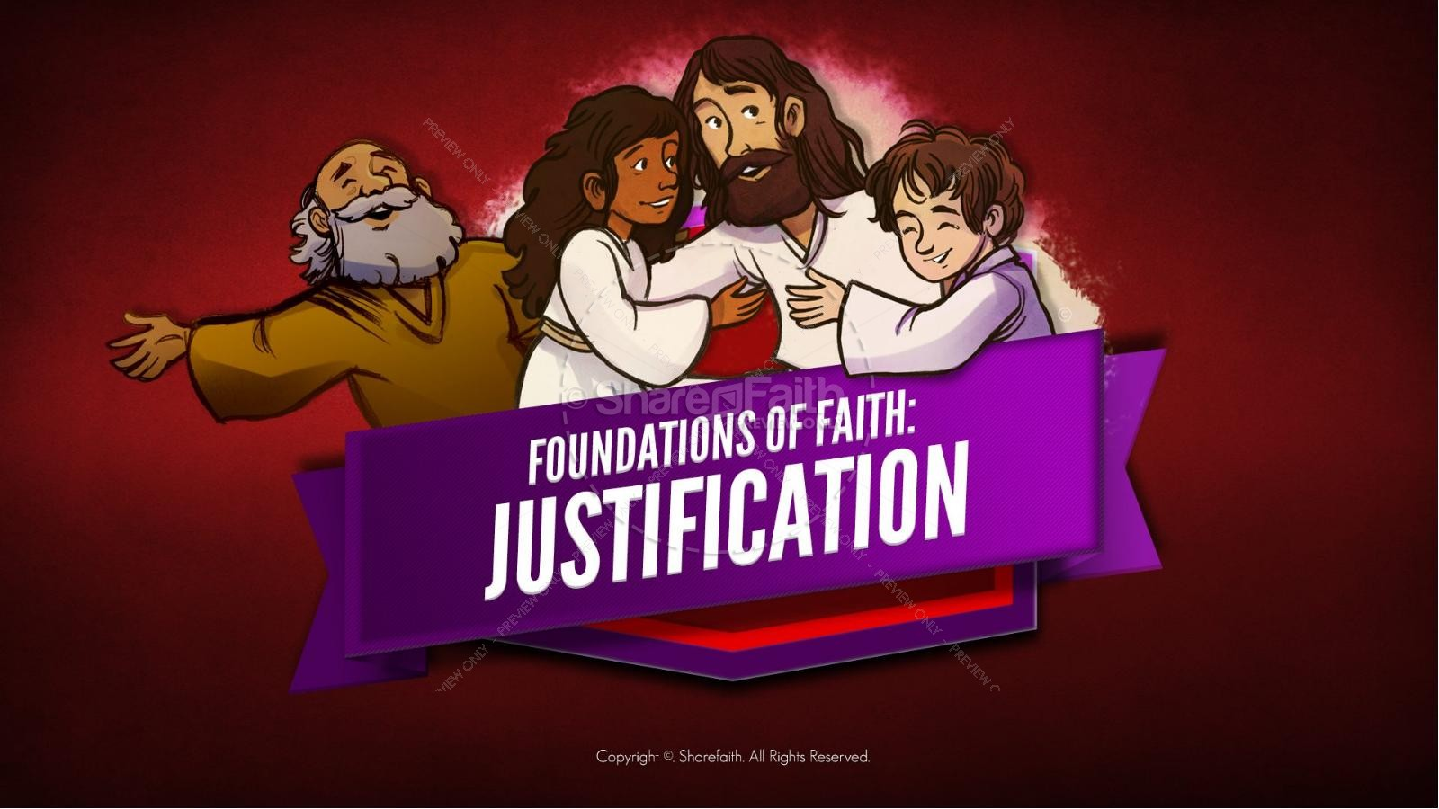 Justified by faith clipart clip free Romans 3 Justification Bible Video For Kids   Bible Videos ... clip free