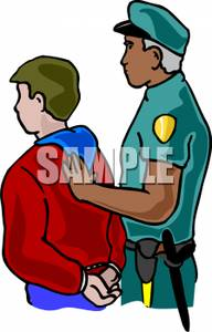 Juvenile clipart vector transparent download A Juvenile Being Incarcerated By a Police Officer - Royalty ... vector transparent download
