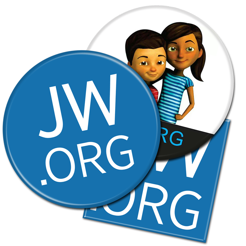 Jw org logo clipart free JW.ORG Buttons | Caleb and Sophia | Jehovah\'s Witness free