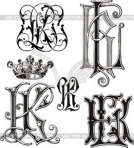 K l clipart clip transparent library Monogram KL - vector clipart | Monograms | Vector clipart ... clip transparent library