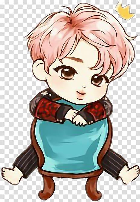 K pop clipart svg freeuse stock Pink haired male illustration, BTS Chibi K-pop Drawing Fan ... svg freeuse stock