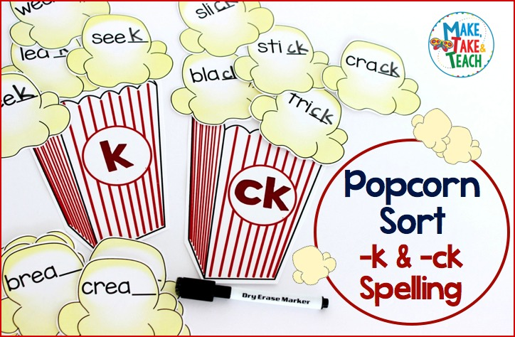 K words clipart clipart royalty free stock Teaching the -k and -ck Spelling Pattern - Make Take & Teach clipart royalty free stock