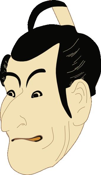 Kabuki clipart png royalty free library Kabuki Actor clip art Free Vector / 4Vector png royalty free library
