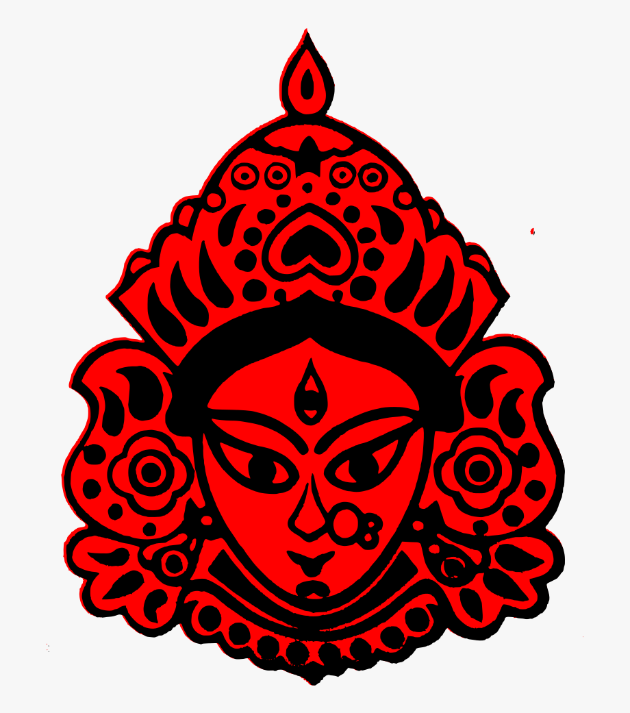 Kali puja clipart picture royalty free library Durga Puja Kali Devi Drawing - Aarti Thali Decoration For ... picture royalty free library