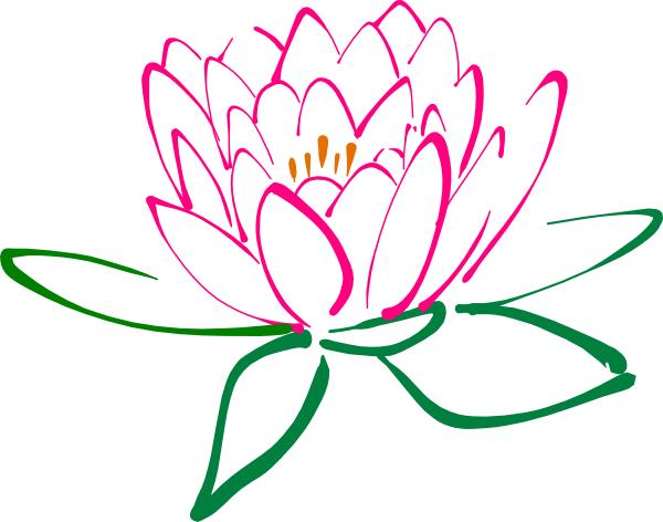 Kamal flower clipart png black and white download Free Lotus Blossom Cliparts, Download Free Clip Art, Free ... png black and white download