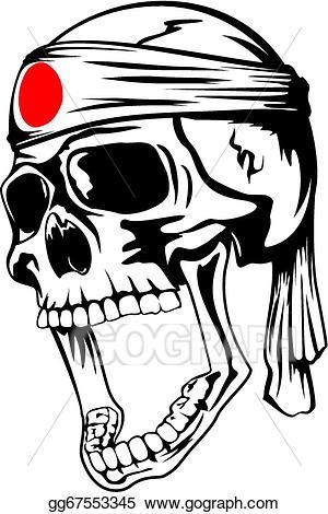Kamikaze clipart image stock EPS Vector - Skull kamikaze. Stock Clipart Illustration ... image stock