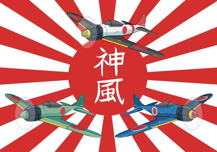 Kamikaze clipart image free stock Kamikaze World War II Plane Vector Illustration - Download ... image free stock
