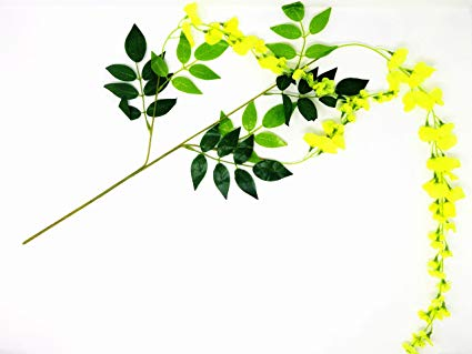 Kanikonna clipart svg black and white Buy Insej Artificial Kanikonna Flowers for Vishu kani - 100 ... svg black and white