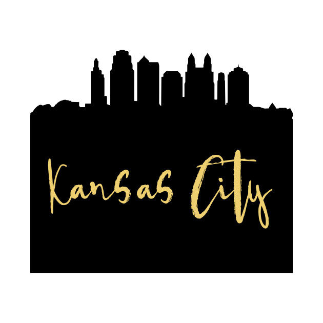 Kansas and missouri touching clipart clip art free stock KANSAS CITY DESIGNER SILHOUETTE SKYLINE ART clip art free stock